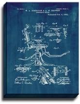 Dentist's Chair Patent Print Midnight Blue on Canvas - $39.95+
