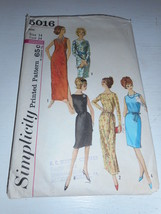 Vintage 1960s or 70s Simplicity Size 14 5016 evening dress cut pattern b... - $13.85