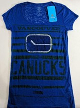 LZ CCM Women's Small Vancouver Canucks NHL Hockey T-Shirt Tee Shirt Top ... - $13.99
