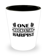 Harpist Shot Glass - One Rock Star - 1.5 oz Ceramic Cup For Music Player... - $12.95