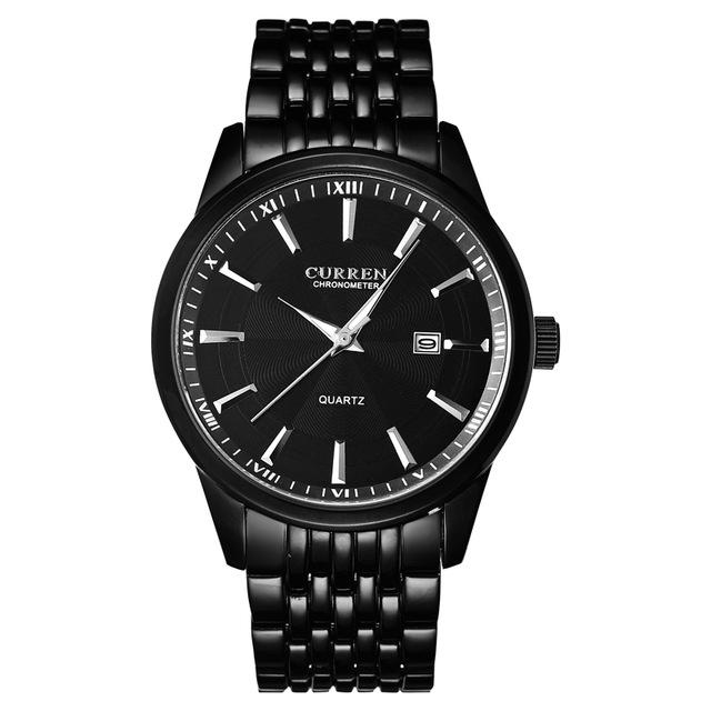 CURREN 8052 Casual Style Full Steel Men Wrist Watch Date Display Quartz Watches - $22.31