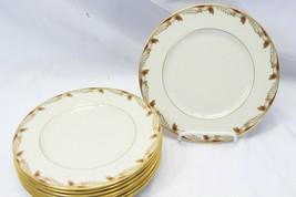 """Lenox Essex Maroon Salad Plates 8.25"""" Lot of 9 - $78.39"""