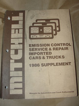 MITCHELL 1986 SUPPLEMENT EMISSION CONTROL SERVICE & REPAIR IMPORTED CARS... - $7.99