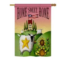 "Welcome Sheep Home Sweet Home - 28"" x 40"" Impressions House Flag - H100061 - $40.97"