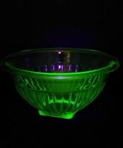 "Pillar Optic Green Hocking Depression Glass 8 1/2"" Mixing Bowl - $14.95"