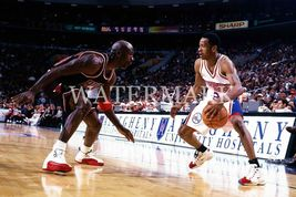 Michael Jordan Allen Iverson EO Vintage 22X28 Color Basketball Memorabil... - $39.95