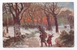 Christmas Greetings Vintage Artist Signed Postcard Harry Payne 1910 - $3.98