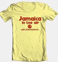 Jamaica Airlines T-shirt 100% cotton vintage style graphic printed tee reggae image 1