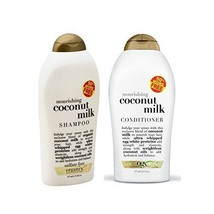 OGX Organix Coconut Milk Shampoo + Conditioner Nourishing USA, 39 oz BONUS! - $27.52