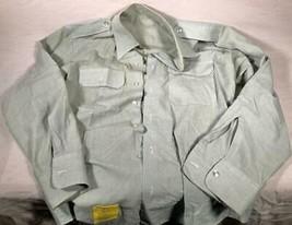 "Us Army Dress Green Shirt Man's CTN/P0LY AG-415 Size 18X39 23"" Sleeve - $25.73"
