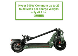 HYPER 500W Electric Scooter 48V 18ah Lithium Battery an Eco-Friendly Scooter image 2