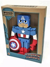 Captain America Wood Wooden Warrior 8 inches tall CPT Marvel Comics  PPW 08904 - $18.80