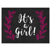 GIRL Personalized Pregnancy Announcement Chalkboard Sign Photo Prop Poster - $15.35+