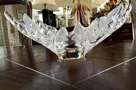 Lalique Champs Elysees Large Centerpiece French Crystal Bowl Excellent Condition - $1,582.02