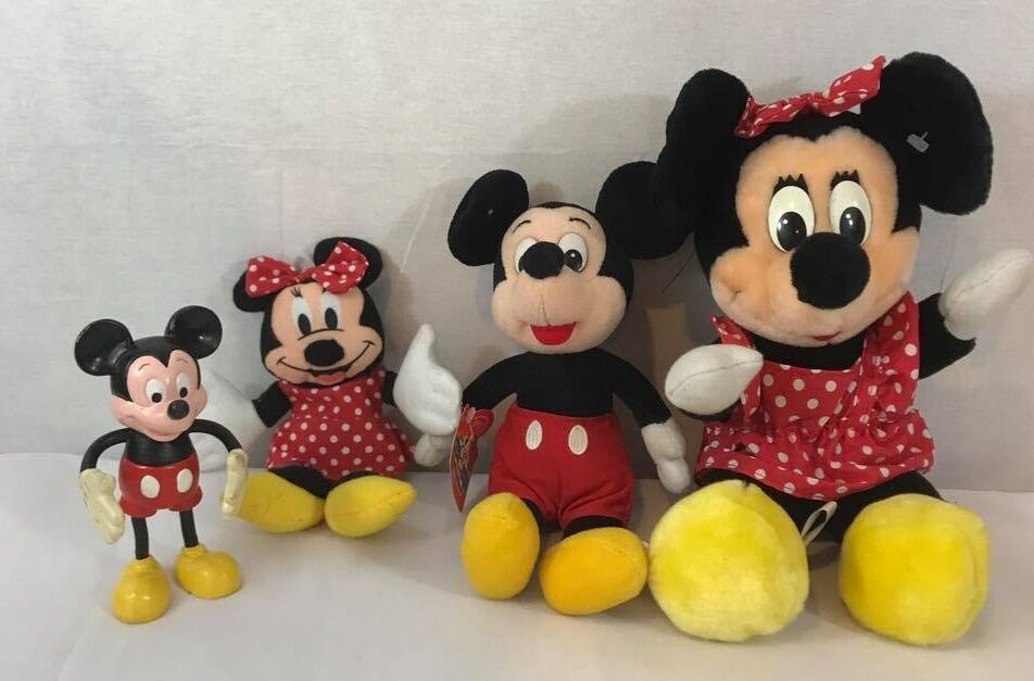 Primary image for  Lot Vintage Disney Mickey Mouse Stuffed Plush Toys Dolls size S,M