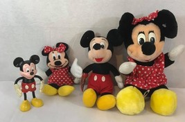 Lot Vintage Disney Mickey Mouse Stuffed Plush Toys Dolls size S,M  - $17.90