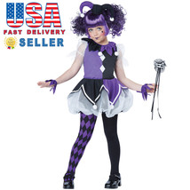 2016 New!! California Costume Purple Jester Girl Kid Child Halloween 00457 - $33.00
