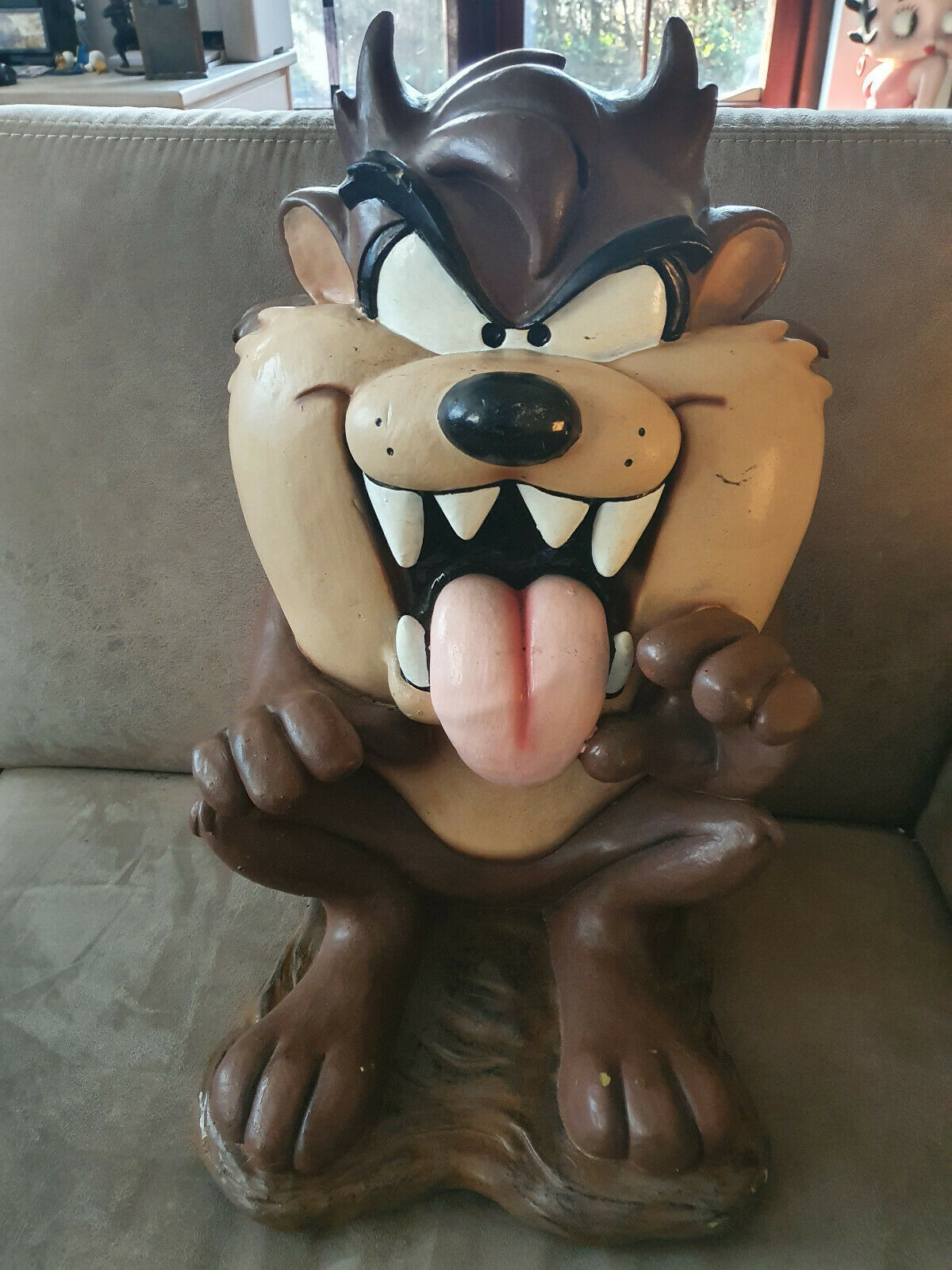Primary image for Extremely Rare! WB Looney Tunes Taz Tasmanian Devil Sitting Big Figurine Statue
