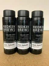 Redken Brews 5 Minute Color Camo Dark Natural 2oz (3 Pack) Same Day Shipping! - $34.99
