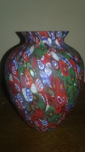 Millefiori vase 5.5 inch - $120.00