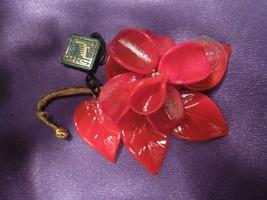 Arte Di Murano Red Petals Delicate Glass Flower Original Ta Gs Made In Italy - $26.72