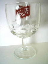 Schlitz Beer Goblet Thumbprint Dimpled The beer that made Milwaukee Vintage - $10.94