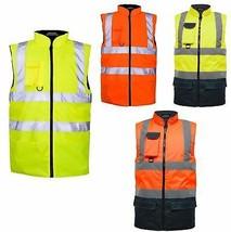 Hi Vis Viz Body Warmer Mens Visibility Light Weight Water Proof Gilet Waistcoat - $21.63 - $22.82