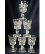"2 Imperial Glass CAPE COD Wine Footed Glasses - 4-1/5"" tall  - $8.00"