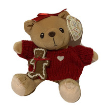 Cherished Teddies Plush Cookie Gingerbread Christmas Girl Red Sweater He... - $9.89