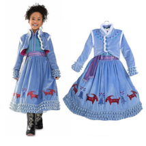 Frozen 2 Olaf's Frozen Adventure Anna Kid Dress with Cloak Cosplay Child Co - $26.99