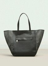 KENNETH COLE REACTION Bare Essentials Perforated Tote Handbg Black. NWT ... - $68.31