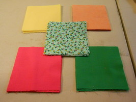 """50 4"""" Pre-Cut Quilt Squares LITTLE TULIPS - $9.88"""