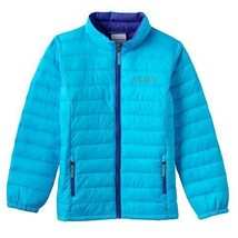 Columbia Youth Girls Elm Ridge Puffer Jacket Waterproof Coat AQUA BLUE S... - $55.54