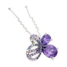 Noble Butterfly Pattern Alloy Diamond Lady Hair Ornaments Hairpin