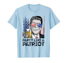 Dad Shirts - Party Like A Patriot 4th of July T shirt Reagan Ronald Men Men - $19.95+
