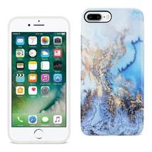 REIKO IPHONE 7 PLUS/ 6S PLUS/ 6 PLUS STREAK MARBLE IPHONE COVER IN BLUE - $12.99