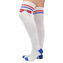 Sailor Moon Bow Thigh High Socks White - $14.98