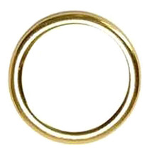 U-1-1/2'' X 6.0Mm Hilason Western Horse Tack Weld Wire Ring Brass Plated U-57BP - $7.87+