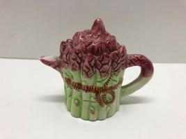 "Miniature Asparagus Pitcher Vase w/ Lid 2.5"" Tall Home Kitchen Decor - $12.58"
