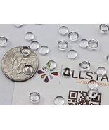 7mm Round Clear Acrylic Cabochons High Quality Pro Grade. Bulk Pack - 10... - $48.64