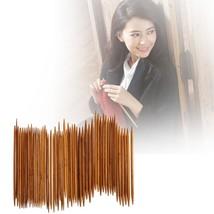 55Pcs/set 11 Sizes 5''13cm Double Pointed Needle Carbonized Bamboo Sweat... - $20.00