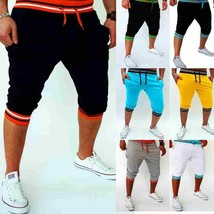 The new men's casual shorts fashion hit the color Slim joggers sport pants - $28.56
