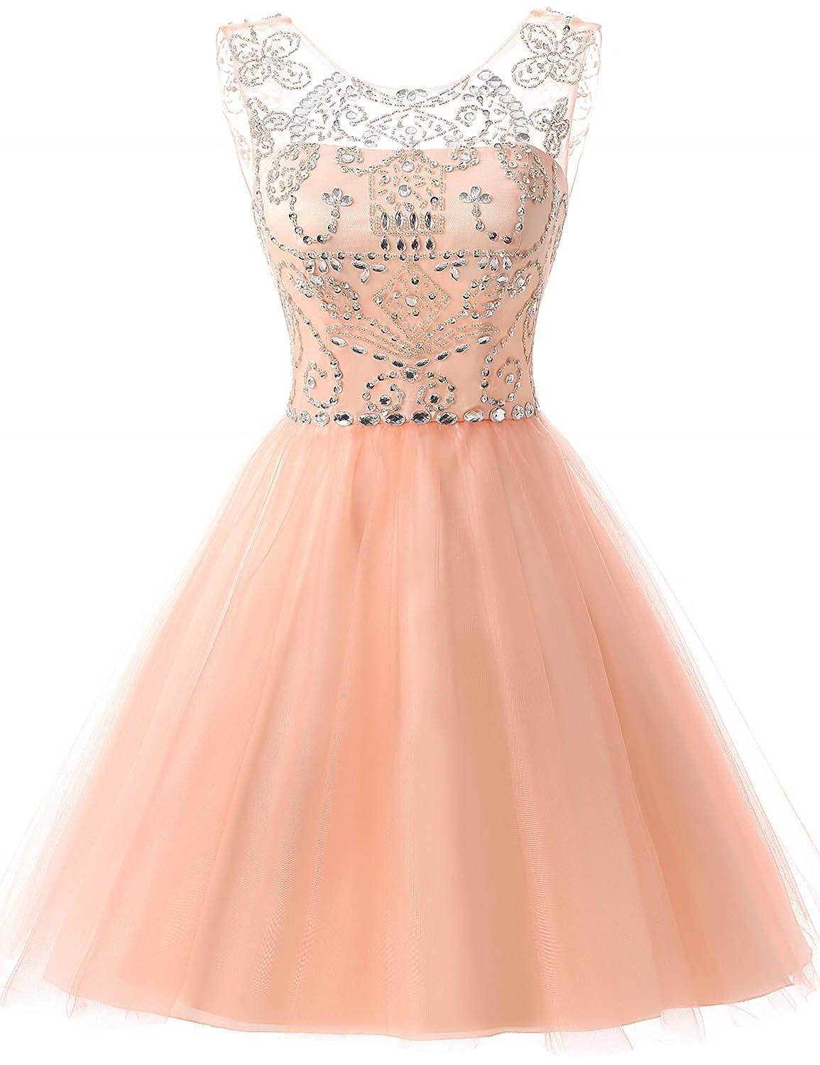 Primary image for Short/Mini Tulle Beading Homecoming Dress Gorgeous Prom Dresses Zipper Back