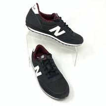 New Balance Womens 410 Buffalo Plaid Sneakers Shoes Size 10, Black & White - $32.37