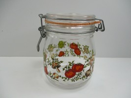 VTG Corning Spice of Life Glass Canister 3/4 L Storage Jar Hinged Lid France - $8.29