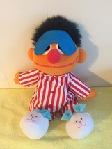 TYCO 1996 Sesame Street Sleep And Snore Ernie Talking & Singing Plush Do... - $8.99