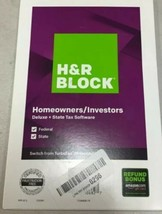 Tax Software Homeowners/ Investors Deluxe +State Tax Software 2019 - $12.14