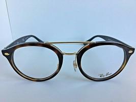 New Ray-Ban RB 5453 7456 50mm Round Tortoise Eyeglasses Frame - $94.99
