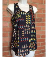 J Crew Tank Top Womens Size 00 Sail Boats Sailing Nautical Summer Shirt ... - $14.84