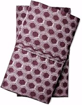 Threshold Organic Cotton Pillowcases 2 King Purple Hexagon Soft 300 Thre... - $24.74